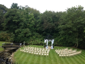 Ballygally Castle Wedding Outside